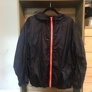 Forever 21 Navy blue windbreaker with pink zipper